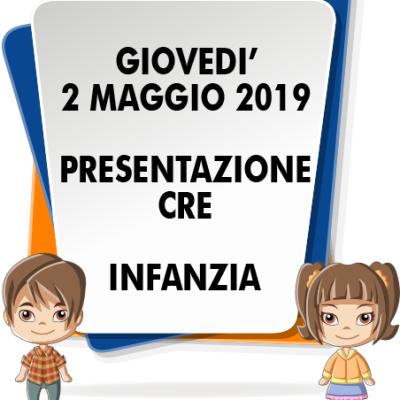 CRE 2019 – Riunione di Presentazione CRE Infanzia